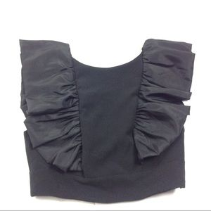 New Asos Women's Cropped Top Ruffled Sleeve Size 6